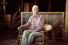 Dr. Jane Goodall sits for a portrait in Bali in this National Geographic Your Shot Photo of the Day.