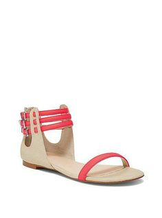 Cute & practical. Love when it works out like that. / Triple Ankle-Strap Sandal