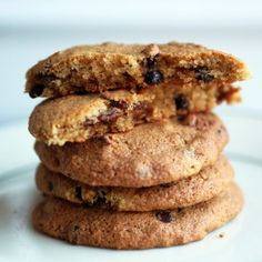 N'oatmeal cookies from The Food Lovers Kitchen - looks like a great #paleo way to get my oatmeal raisin cookie fix!