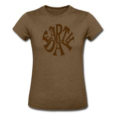 Earth Day Groovy, Women's Heather Jersey T-Shirt ~ 712