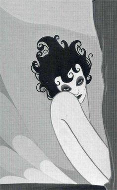 """John Vassos - Illustration for Oscar Wilde's """"Salome"""", 1927"""