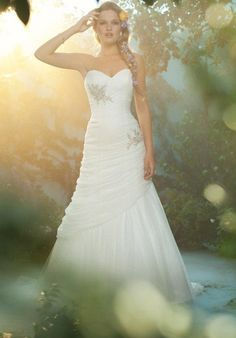 Alfred Angelo mermaid styled gown with beaded embellishments and embroidery I Style: 221 I https://www.theknot.com/fashion/221-disney-fairy-tale-weddings-by-alfred-angelo-wedding-dress?utm_source=pinterest.com&utm_medium=social&utm_content=june2016&utm_campaign=beauty-fashion&utm_simplereach=?sr_share=pinterest