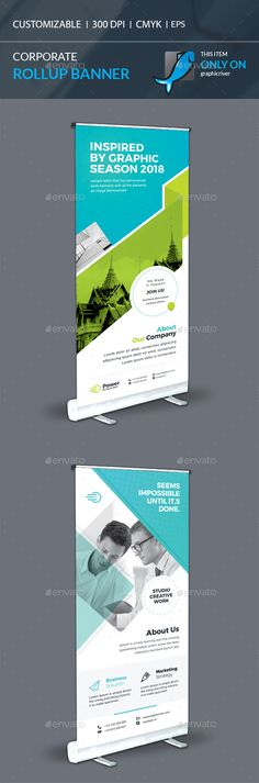 Rollup Banner Template Vector EPS, AI Illustrator
