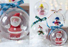 Des boules de Noël en pâte fimo Ces personnages trop mignons en pâte fimo sauront animer une décoration de table, de cheminée ou un sapin !Des boules de Noël en pâte fimo Découvrez toutes nosboules de Noëlpersonnalisées!