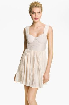 BB Dakota 'Abella' Pleated Bustier Dress available at #Nordstrom