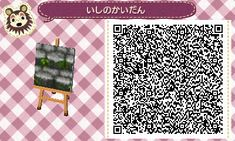 Cobblestone Stairs with Weeds - Animal Crossing New Leaf QR Code