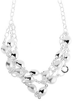 #Silver Coffee Bean #Necklace by Chris Lewis | #Goldsmiths #jewellery #redcarpetglamour