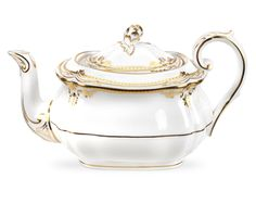 Spode Stafford White Teapot. As seen on Downton Abbey #Spode #DowntonPBS
