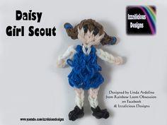 Rainbow Loom Daisy Girl Scout Action Figure Charm Doll