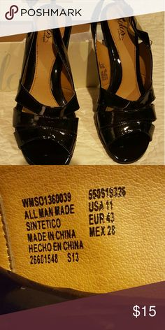 Ladies heels Black patent leather, brand new, never worn solos  by softspots Shoes Heels