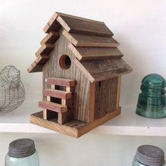Bird House Rustic Birdhouse Rustic Barn Wood by SoilandSawdust