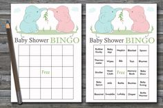60 blue elephant baby shower bingo,pink elephant Bingo Cards,jungle baby shower Bingo Card ,Printable Blank & PreFilled Cards, BG-195 Baby Bingo, Baby Shower Bingo, Baby Shower Printables, Star Baby Showers, Elephant Baby Showers, Pink Elephant, Blank Bingo Cards, Blue