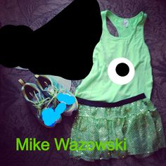 Mike Wazowski! I kind of want to wear this for my Disney Princess Half. I'm more of a Monsters INC person than princess.