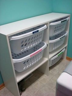DIY Laundry Basket Dresser, Or Storage Cubes, Boots