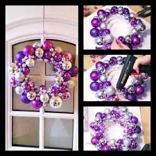 "Image result for ""advent wreath with purple christmas ornaments in the wreath surrounding the candles"