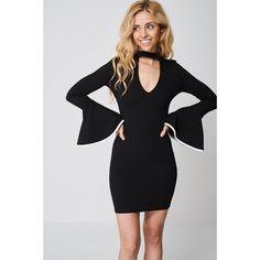 Black Bell Sleeve Dress Ex-branded