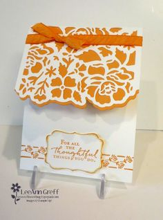 New! Floral Detailed Thinlits and Floral Phrases in Peekaboo Peach from Flowerbug's Inkspot!