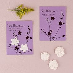 Seed+Paper+Love+Blossoms+Personalized+Favor+Card