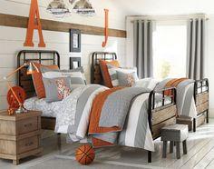 pottery-barn-shared-room-orange-and-gray