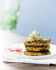 Falafel Patties with Harissa Yogurt |  ACOUPLECOOKS.COM