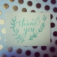 Letterpress Thank You Card Set