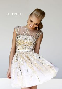 Gold/White Dress | Grad dresses, Graduation dresses and Prom