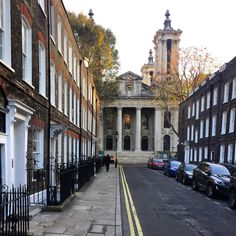 Always so beautiful stepping out of the door of our project in Westminster and seeing St. John's, Smith Square at the end of the street, but even more so on a perfect November late afternoon