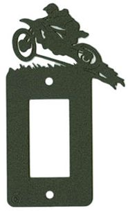 Motocross switch plate.
