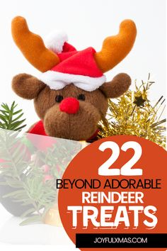 We are a big fan of recipes that features our all-time favorite red-nosed Christmas character – Rudolf. So here are the 22 cute reindeer treats that will be loved by both kids and adults. #reindeertreats #reindeertreatrecipes #christmasrecipes