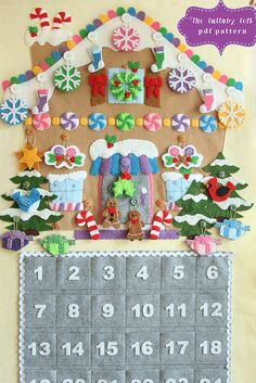 Gingerbread House avvento calendario modello 24 di thelullabyloft