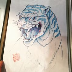"""""""Asian Tiger by Octopus Tattoo"""""""