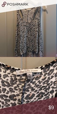 Charlotte Russe leopard print tank top size M Charlotte Russe leopard print tank top size M Charlotte Russe Tops Tank Tops