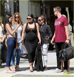 kim kardashian beats beyonce for most instagram followers 03 Kim Kardashian rocks a form fitting dress to accentuate her baby bump on Monday (August 24) in Beverly Hills, Calif.    That same day, the 34-year-old pregnant reality…