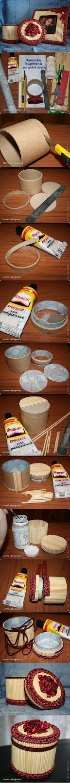 Tutoriales y DIYs: Reciclar tubo - hacer caja