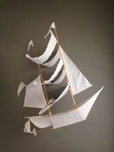 Sailing Ship Kite  |  handmade kite really flies and is a certified Fair Trade product, made in collaboration with Balinese artisans exclusively for Haptic Lab from locally-sourced bamboo and nylon.