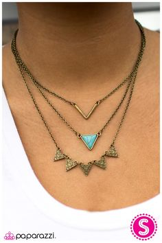 TRI-bal Style - Blue I love how the turquoise looks with this brass necklace! It's a beauty!