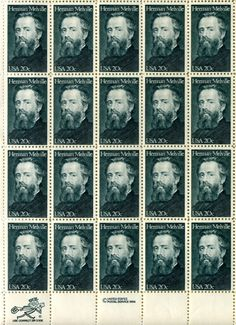 Herman Melville Stamps by donovanbeeson