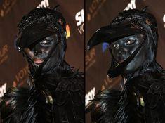 Heidi Klum raven costume Halloween, 2009
