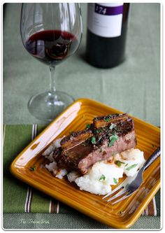 The Italian Dish - Posts - Short Ribs with White Polenta