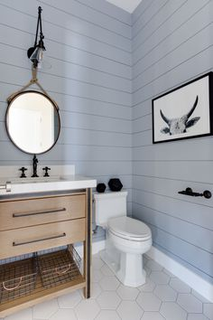9 Gracious Cool Tips: Bathroom Remodel Small Farmhouse bathroom remodel ikea walk in shower.Bathroom Remodel Ikea Walk In Shower mobile home bathroom remodel interiors.Bathroom Remodel On A Budget Small. Bathroom Renos, Grey Bathrooms, Master Bathroom, Shiplap Bathroom Wall, Bathroom Ideas, Blue Bathroom Vanity, Modern Bathroom, Bathroom Vanities, Bathroom Designs