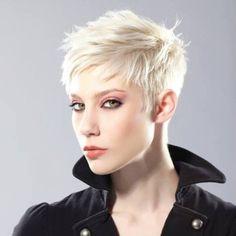 Short Hair Beauty — Platinum Pixie http://ift.tt/1YbDKkO