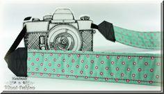 Kameragurt Kameraband  Kamera photografie türkis von BlinniFashion, €29.90
