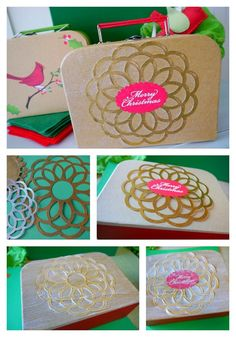 Holiday Gift Boxes for gift wrapping idea - fun holiday DIY using Martha Stewart Crafts