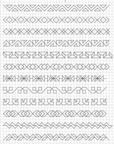 23 ideas drawing doodles student for 2019 23 ideas drawing doodles student for 2019 Motifs Blackwork, Blackwork Embroidery, Cross Stitch Embroidery, Embroidery Patterns, Cross Stitch Borders, Cross Stitching, Cross Stitch Patterns, Graph Paper Drawings, Graph Paper Art