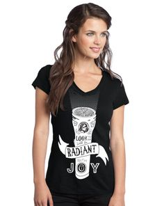 Radiant With Joy Women's V-Neck Tee on SonGear.com
