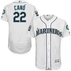 Robinson Cano Seattle Mariners Majestic Home On-Field Flex Base Authentic Jersey with Patch - White - $316.99