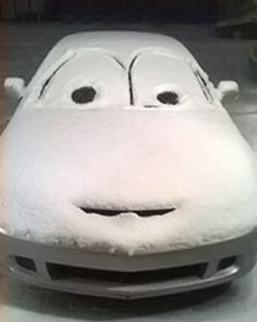 I need to do this to the first car I see next time it snows!!