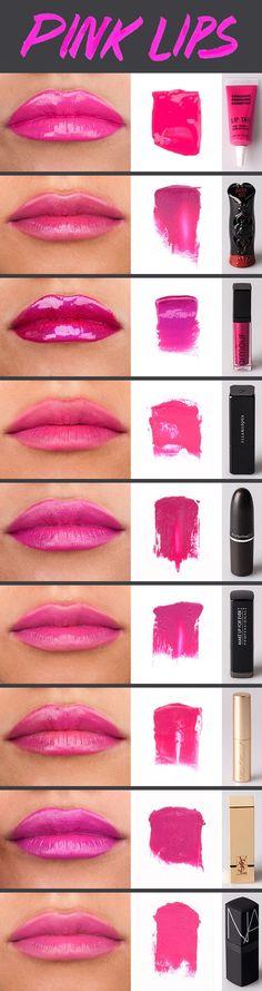 Different shades of pink lipsticks #poshprofs