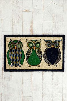 @Marianne Gries - a future housewarming present for you!   Night Owl Welcome Mat
