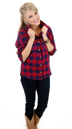Don't Get Mad, Get Plaid Shirt :: NEW ARRIVALS :: The Blue Door Boutique